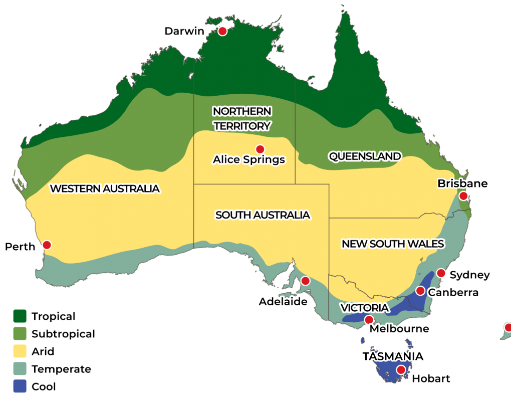 Australian Climate Growing Zones